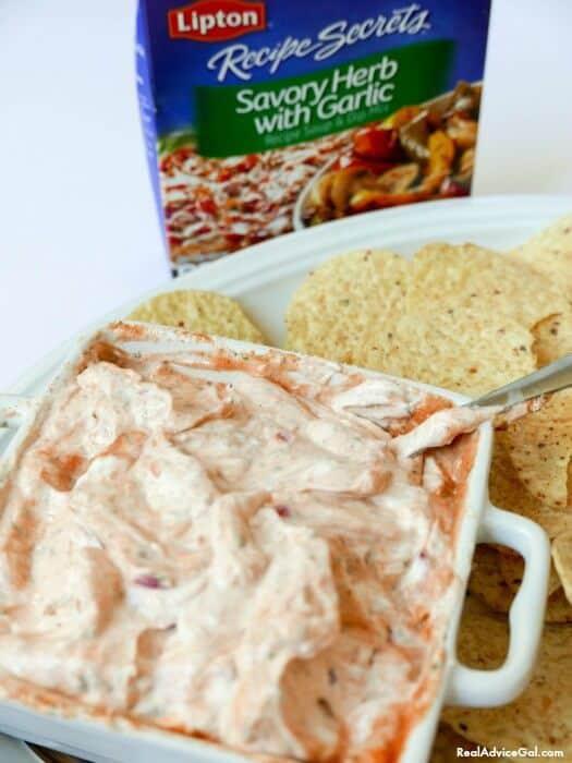 Dairy-Free Easy Dip Recipe with Lipton® Recipe Secrets