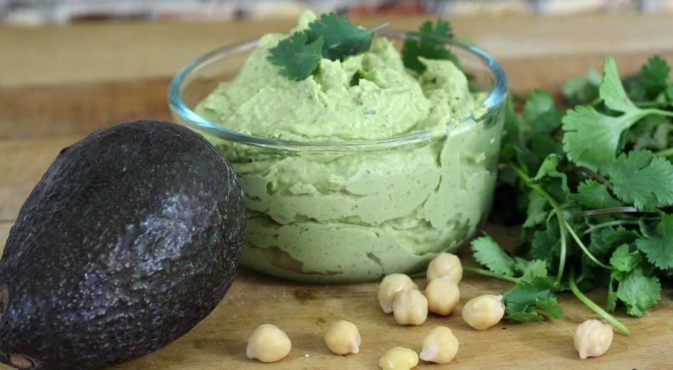 Avocado Cilantro Quick Hummus