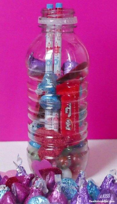 Saint Valentine bottle craft