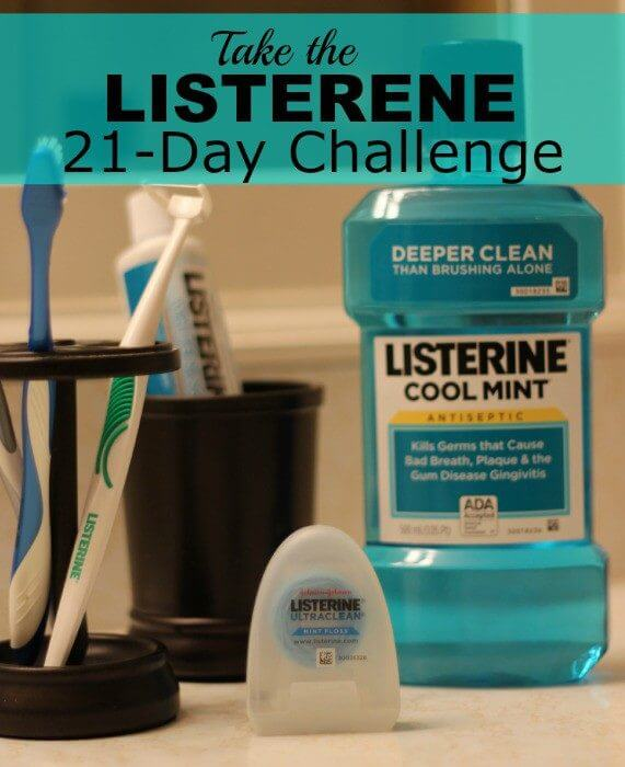 listerine products help oral care 21 day challenge rinse with mouthwash