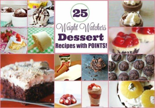 25 Delicious Weight Watchers Dessert Recipes with Points Plus for Weight Loss