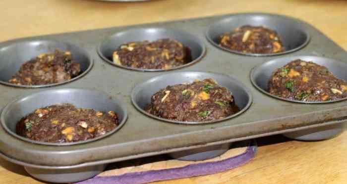 Mini meatloaves finished cooking
