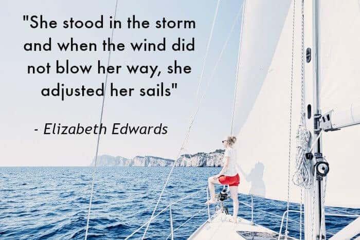 Karla's Korner: Adjust Your Sails