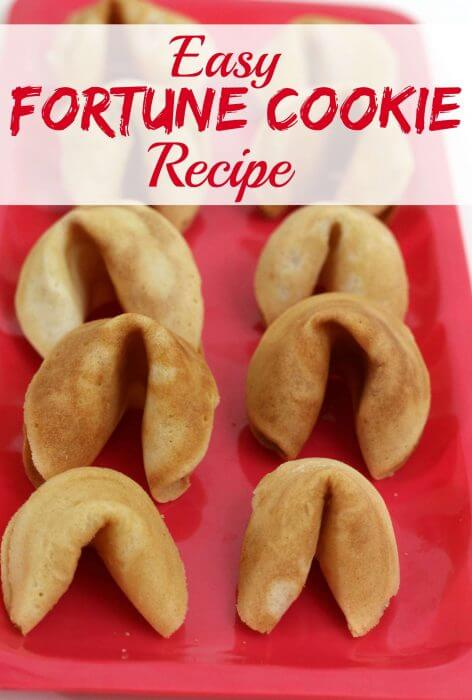 Easy Fortune Cookie Recipe