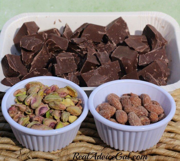 Salted Almond and Pistachio Bark Ingredients