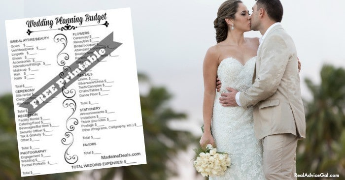 Free Printable Wedding Checklist