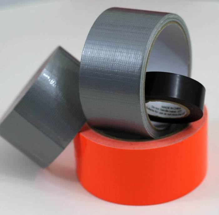 Silver orange and black duct tape