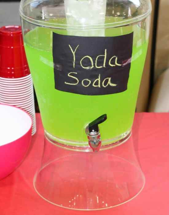 Yoda soda is a great drink idea for Star Wars themed parties. It is very simple to make with only two ingredients.