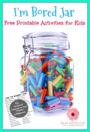 "FREE ""I'm Bored"" Jar Printable For Kids"