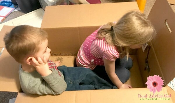 recycle cardboard box