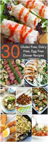 Is meal planning difficult because your family has different food allergies or food sensitivities? Save and try these Gluten Free Dairy Free Egg Free Recipes