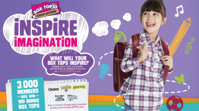 Win 100 Box Tops for your school. Join Costco's Box Tops for Education Sweepstakes