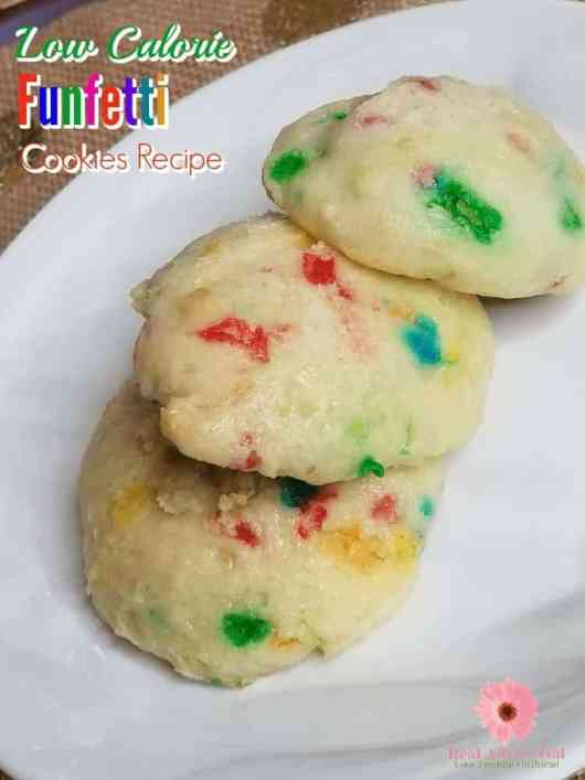 Kids will love this Low Calorie Funfetti Cookies Recipe