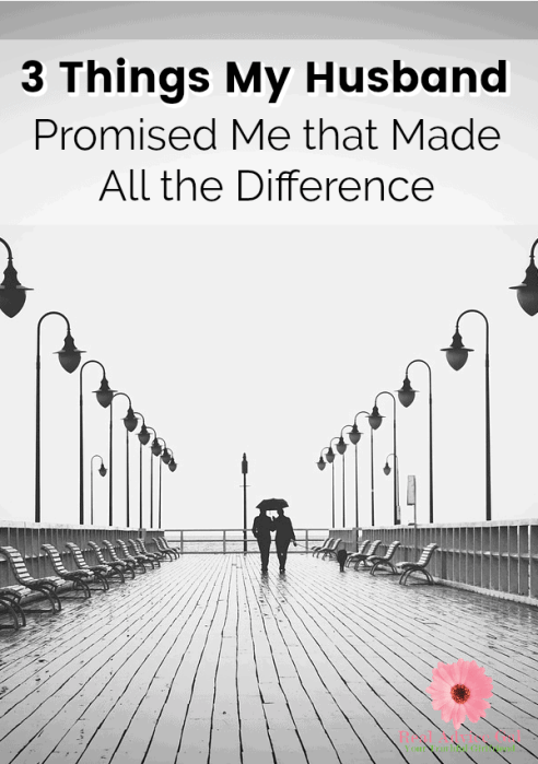 Live on less and be debt free. Read about the 3 things my husband promised me that made all the difference.