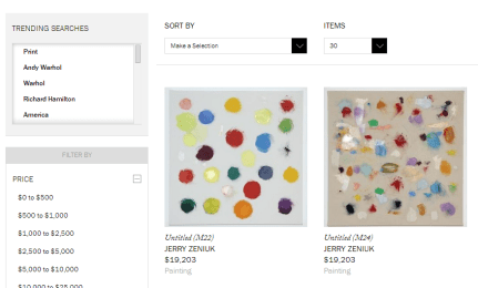 Artspace offers an unparalleled collection of purchasable art.