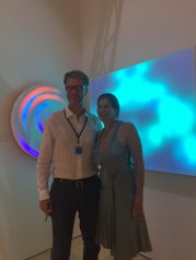 with Timothy Yarger in front of Mads Christensen pieces