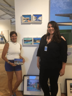 Pictured with my recent purchase, Open House, 2016 by Andy Burgess. To my right is the associate director of Cynthia Corbett Gallery, Celia Kinchington.