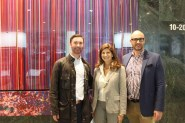 (right to left) Doug Smith of the World Trade Gallery; Cindy Farkas Glanzrock, Myles Fennon of Cushman & Wakefield