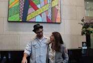 (right to left) Artist HELLBENT, Cindy Farkas Glanzrock
