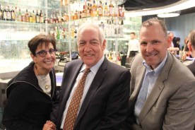 (left to right) Anita Grossberg of Douglas Elliman Commercial, Gerald H. Morganstern of Goetz Fitzpatrick LLP, and Philip Armarante of Hunter Roberts Construction Group during the cocktail hour at 10 Corso Como.