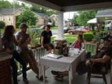 talking beer on the front porch with Andy, Susan, Tim and the Trumbos