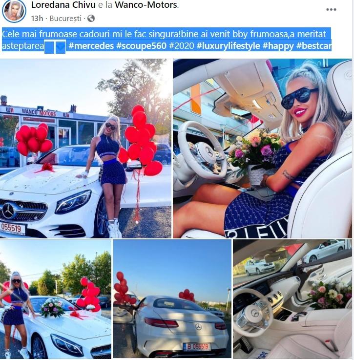 (FOTO) Loredana Chivu deține un bolid de mii de euro! Cum arată mașina cumpărată în plină pandemie de coronavirus?