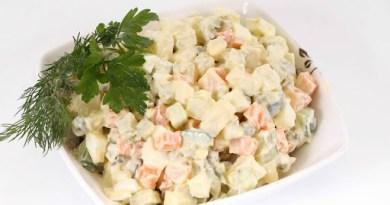 Rețeta salatei de boeuf de post. Uimitor, dar este chiar mai bună decât varianta clasică!