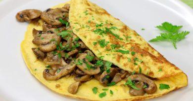 Cea mai genială omletă cu ciuperci și cașcaval. Rețeta unui mic dejun în doar 10 minute