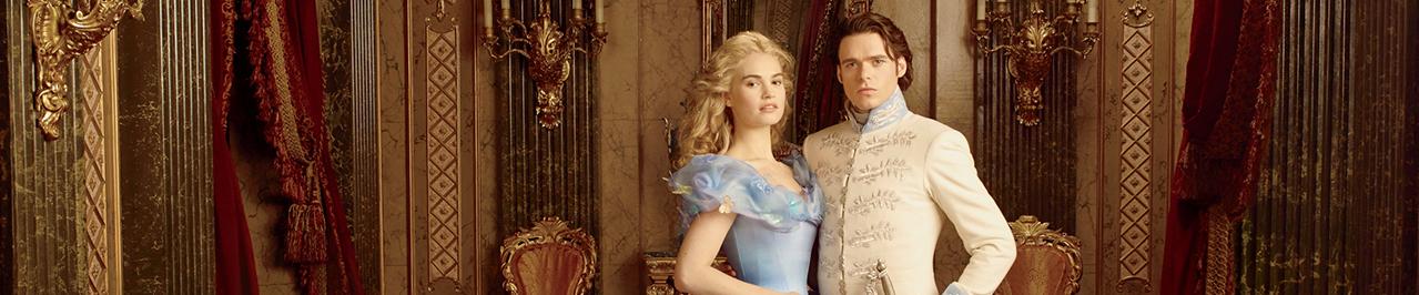 Cinderella's Lily James and Beardless Robb Stark