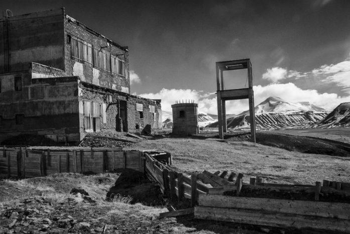 Opuštěné budovy v zátoce Colesbukta