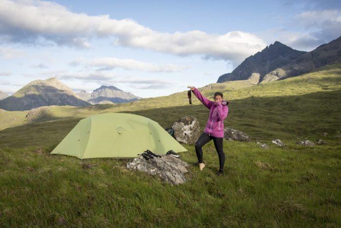 Isle Of Skye Trail kempování poblíž Sligachanu