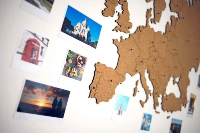 Dárky pro cestovatele Korková mapa Evropy