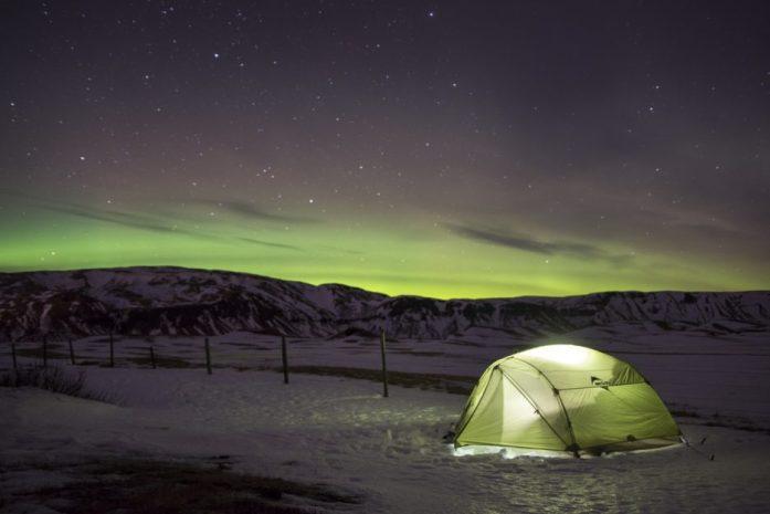 Půjčení auta na Islandu: Polární záře