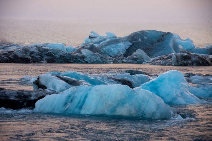 Jökulsarlon Glacier Lagoon in winter