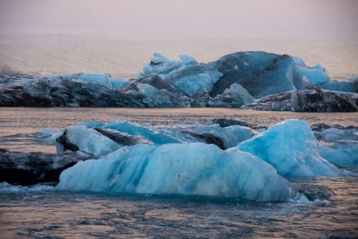Jökulsarlon Glacier Lagoon in winter