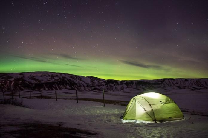 Realcamplife Island polární záře