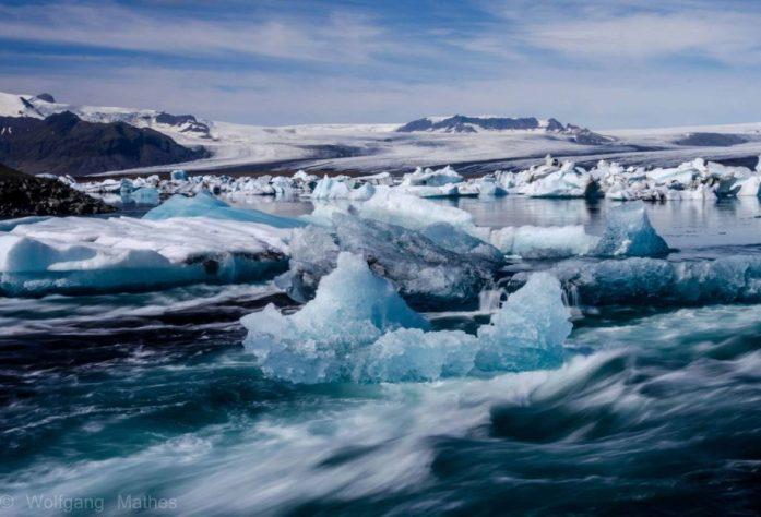 Kempování u ledovcové laguny Jokulsarlon