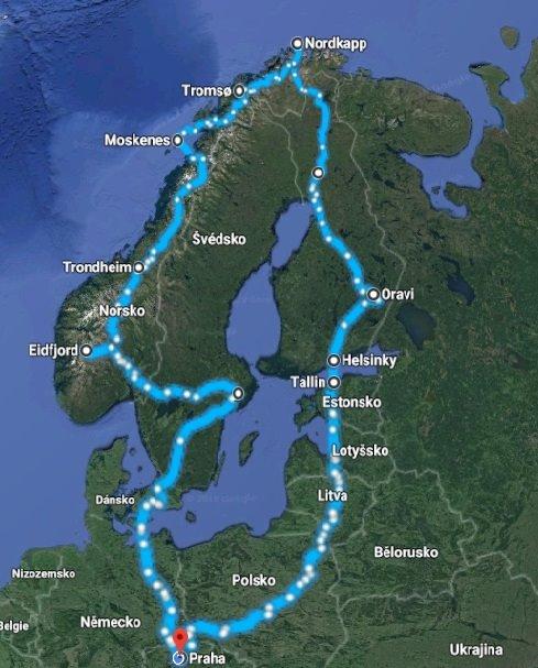 Plánování dovolené do Norska: příklad špatného itineráře