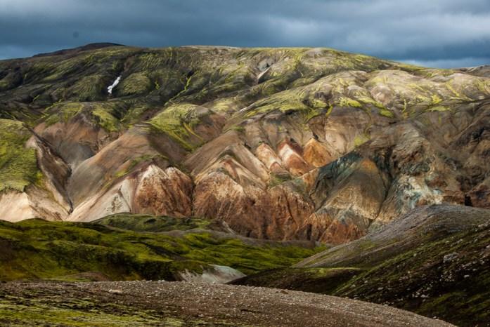 Duhové hory poblíž Landmannalaugar, Island