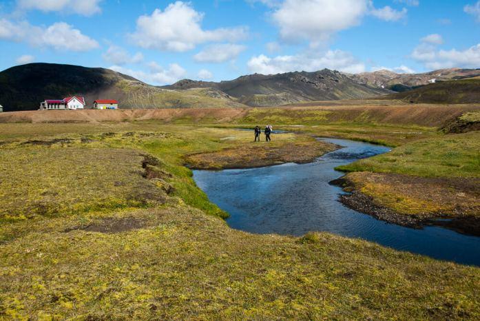 Jídlo a pitná voda na Laugavegur treku na Islandu