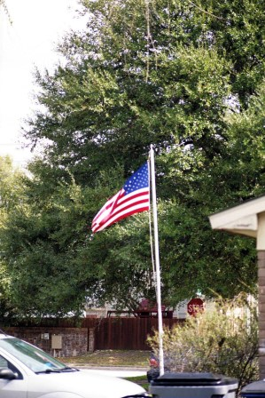 My neighbor's USA flag in their front yard