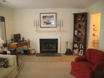 Charlottesville living room wth wide angle lens