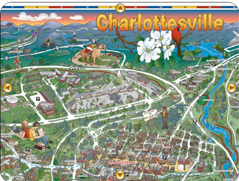 Map of Charlottesville, Virginia