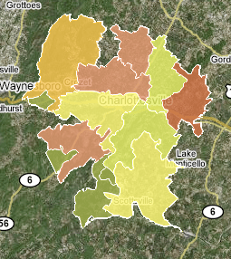 Trulia Albemarle heat map
