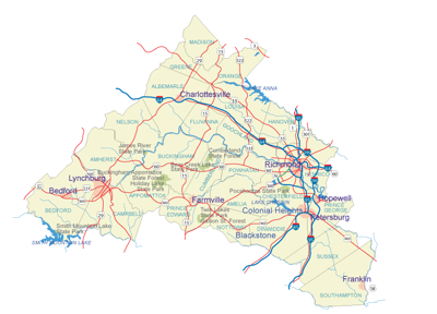 Map Of Central Virginia-2