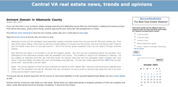 Charlottesville real estate blog circa 2005