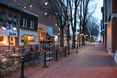 Downtown Mall in Charlottesville, Virginia