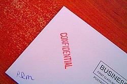 confidential correspondence