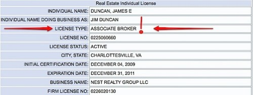Charlottesville Virginia Real Estate Broker - Jim Duncan