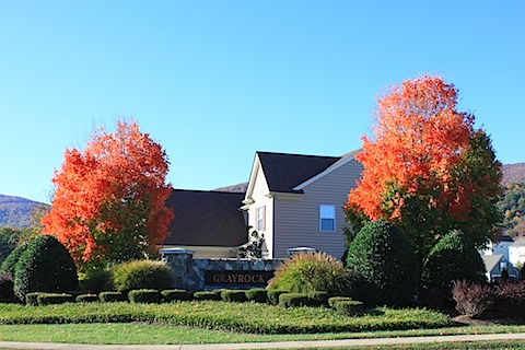 Grayrock Neighborhood in Crozet in the Fall